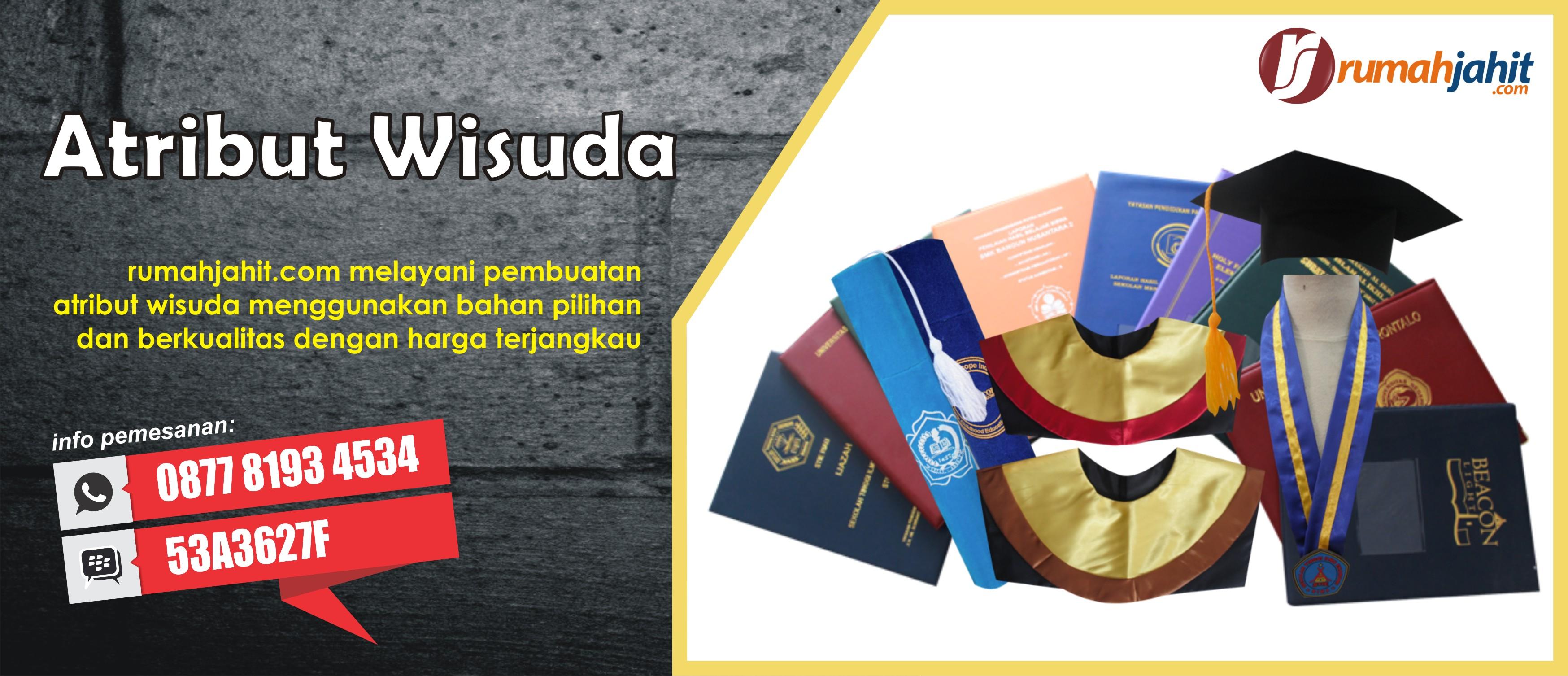 Design banner wisuda - Atribut Toga Wisuda Banner Atribut