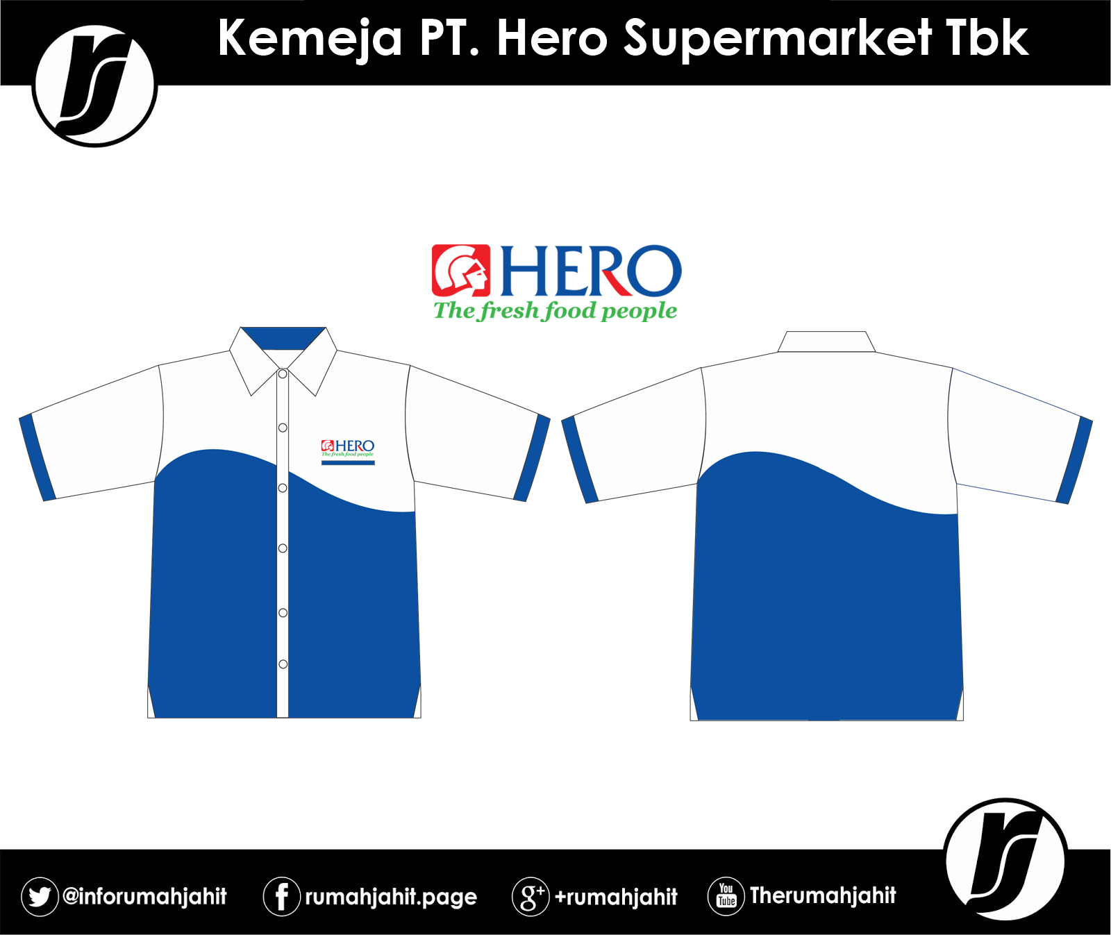 kemeja pt hero supermarket tbk mitra pengadaan seragam